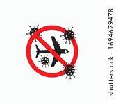 stop flight icon  flight...   Shutterstock .eps vector #1694679478