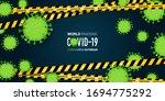 coronavirus or covid 19 banner... | Shutterstock .eps vector #1694775292