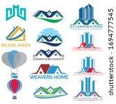 building real estate logo...   Shutterstock .eps vector #1694777545