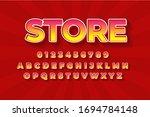 modern styled 3d trendy font... | Shutterstock .eps vector #1694784148