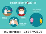 prevention of covid 19 concept  ... | Shutterstock .eps vector #1694793808