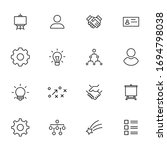 vector line icons collection of ... | Shutterstock .eps vector #1694798038