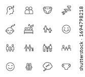 icon set of baby. editable... | Shutterstock .eps vector #1694798218