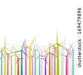 colorful wind electricity... | Shutterstock .eps vector #169479896