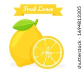 vector yellow lemon fruit....   Shutterstock .eps vector #1694813305