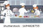 banner illustration safety food ... | Shutterstock .eps vector #1694828755