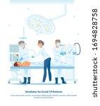 flat illustration ventilator... | Shutterstock .eps vector #1694828758