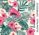 exotic beautiful bird pink...   Shutterstock .eps vector #1694832412