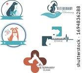 set of five animal logos.... | Shutterstock .eps vector #1694836288
