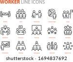 set of business icons  teamwork ...   Shutterstock .eps vector #1694837692