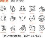 set of coronavirus icons  virus ...   Shutterstock .eps vector #1694837698