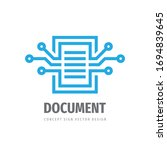 data page concept logo template ... | Shutterstock .eps vector #1694839645