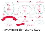 set of wedding graphic elements ... | Shutterstock .eps vector #169484192