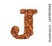 coffee bean font. alphabet... | Shutterstock . vector #1694843068