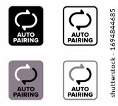 """""""Auto pairing"""" procedure, devices relationship process information sign"""