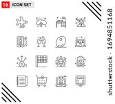 16 creative icons modern signs... | Shutterstock .eps vector #1694851168