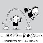 career and competition.... | Shutterstock .eps vector #169486922