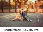 cute young beautiful couple... | Shutterstock . vector #169487495
