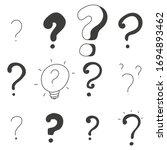 Question Mark Vector Doodle Set ...