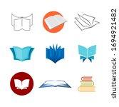 books logo set. various style... | Shutterstock . vector #1694921482