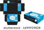 disposable face masks box...   Shutterstock .eps vector #1694929828