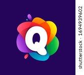 letter q logo at colorful...   Shutterstock .eps vector #1694939602