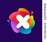 letter x logo at colorful...   Shutterstock .eps vector #1694939608