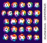 alphabet letters set at...   Shutterstock .eps vector #1694939635
