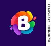 letter b logo at colorful...   Shutterstock .eps vector #1694939665