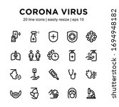 simple set of coronavirus line...   Shutterstock .eps vector #1694948182
