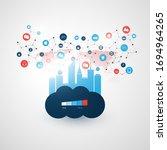 smart city  cloud computing... | Shutterstock .eps vector #1694964265