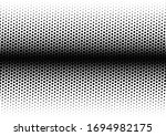 black and white dots background.... | Shutterstock .eps vector #1694982175