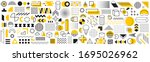 set of geometric shapes.... | Shutterstock .eps vector #1695026962