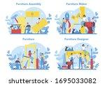 wooden furniture maker or...   Shutterstock .eps vector #1695033082