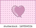 valentine day greeting card... | Shutterstock . vector #169504526