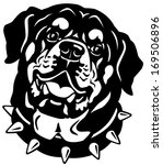Dog Head  Rottweiler Breed ...
