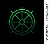 Ship Wheel Nolan Icon. Simple...