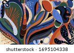 abstract exotic illustration... | Shutterstock .eps vector #1695104338