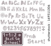 original hand drawn font as... | Shutterstock .eps vector #169511306