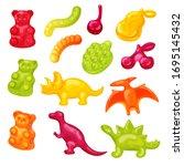 gummy candy vector illustration ... | Shutterstock .eps vector #1695145432