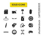 details icons set with back...