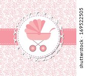 illustration of pink baby... | Shutterstock . vector #169522505