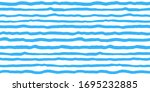 wavy uneven blue stripes... | Shutterstock .eps vector #1695232885