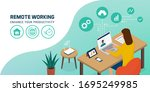 professional businesswoman... | Shutterstock .eps vector #1695249985