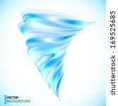 Blue Vector Isolated Tornado
