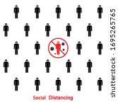 social distancing to protect...   Shutterstock .eps vector #1695265765