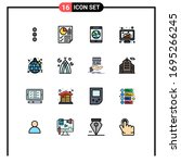 pack of 16 creative flat color...
