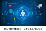 human scanning medical health...   Shutterstock .eps vector #1695278038