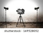 camera and lamps