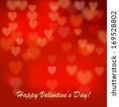 valentine's day background with ... | Shutterstock .eps vector #169528802